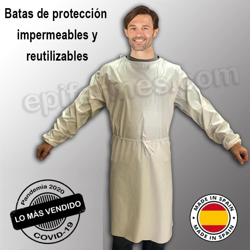 Bata impermeable reutilizable