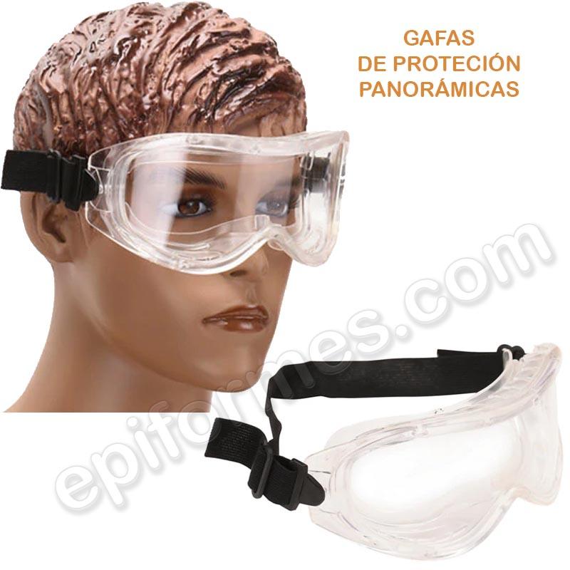 Gafas de protección envolvente panorámica