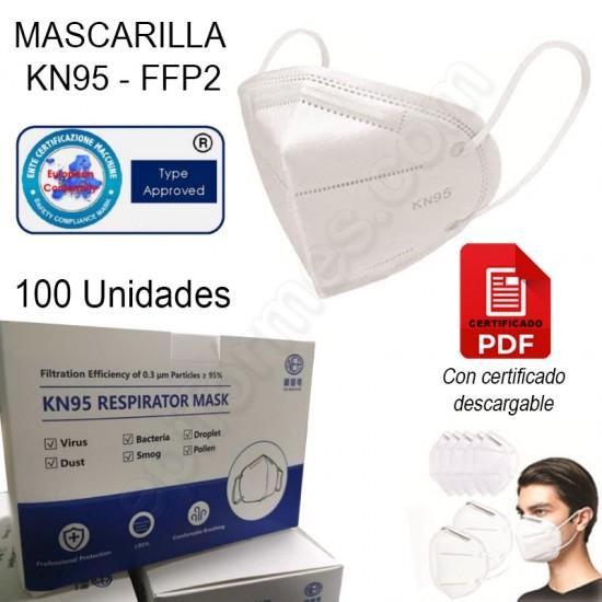 100 Mascarilla KN95-FFP2