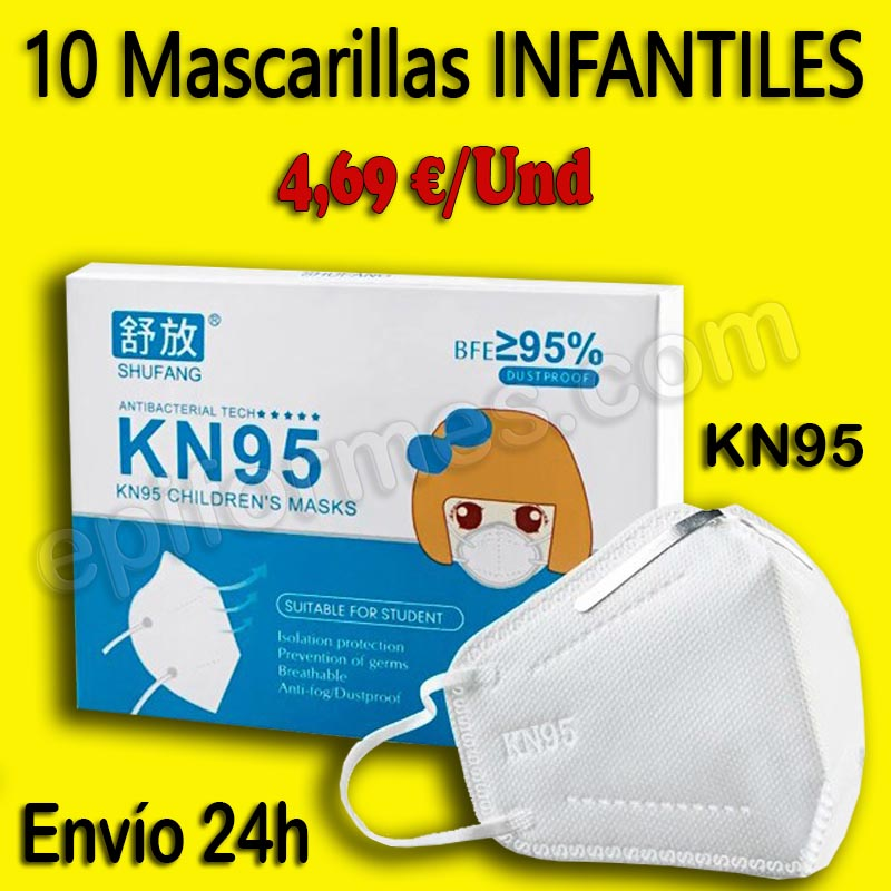 Mascarilla infantil KN95 ENVÍO INMEDIATO