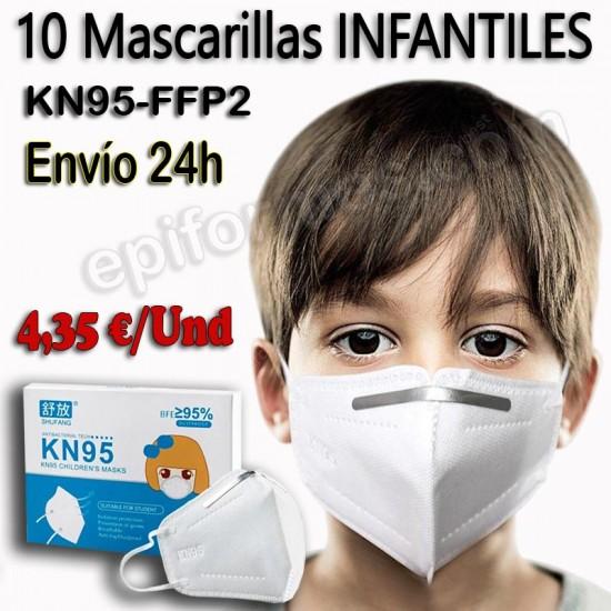 .Mascarilla infantil KN95 ENVÍO INMEDIATO