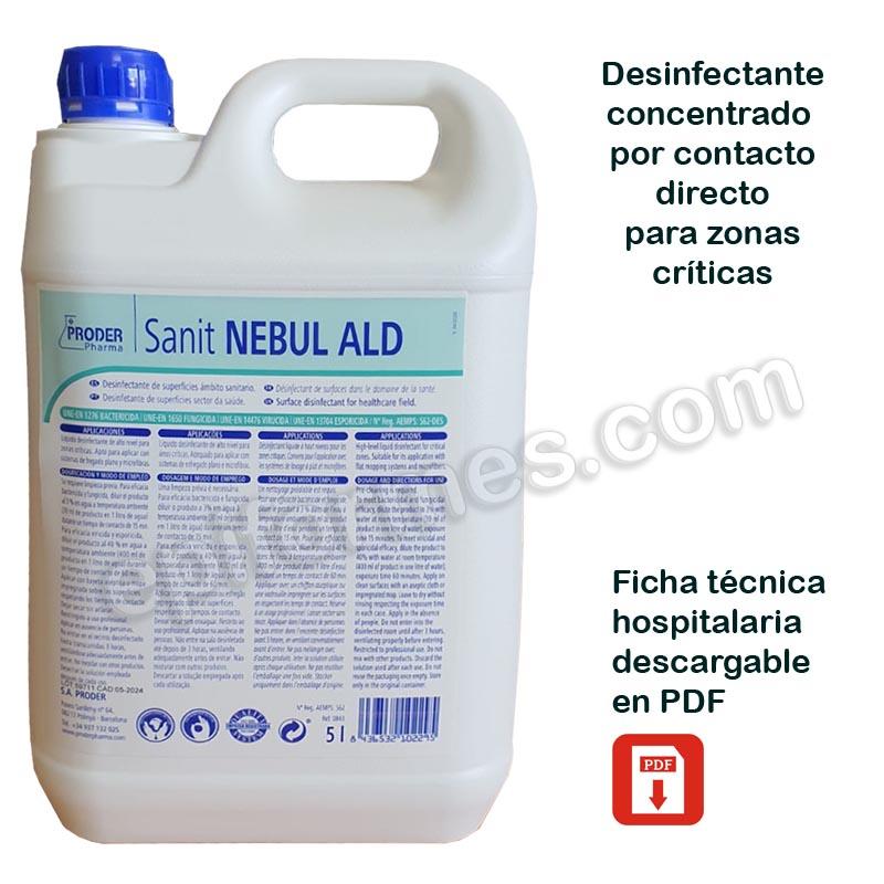 Desinfectante concentrado instalaciones 5 Litros
