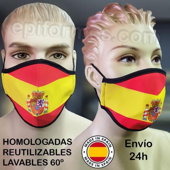 Mascarilla HOMOLOGADA BANDERA ESPAÑA