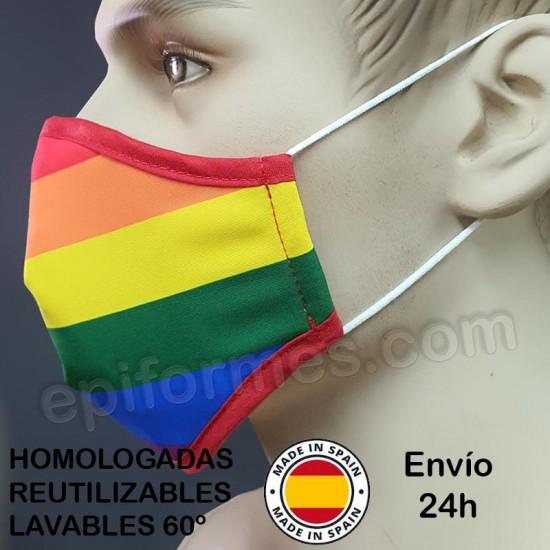 Mascarilla HOMOLOGADA ORGULLO LGBT (Quedan pocas)
