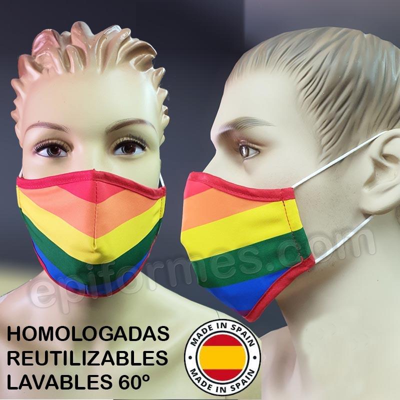 Mascarilla HOMOLOGADA ORGULLO LGBT