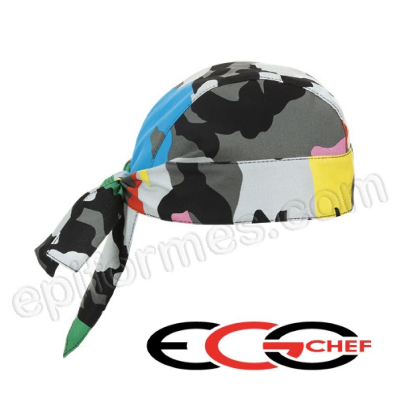 Bandana de cocinero camuflaje