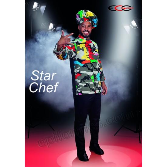 Gorro chef camuflaje