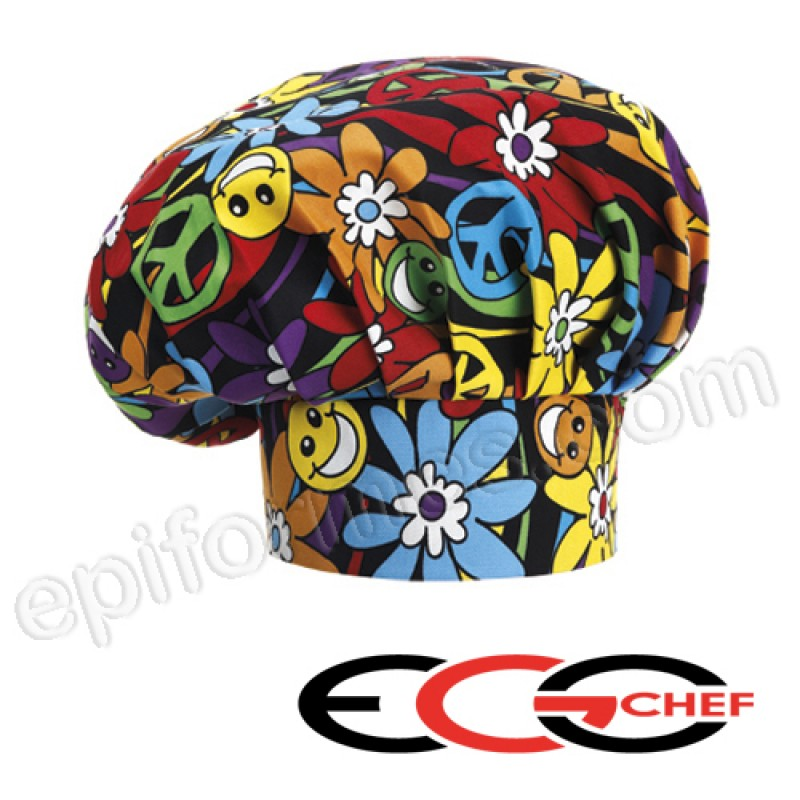 Gorro chef Peace and love