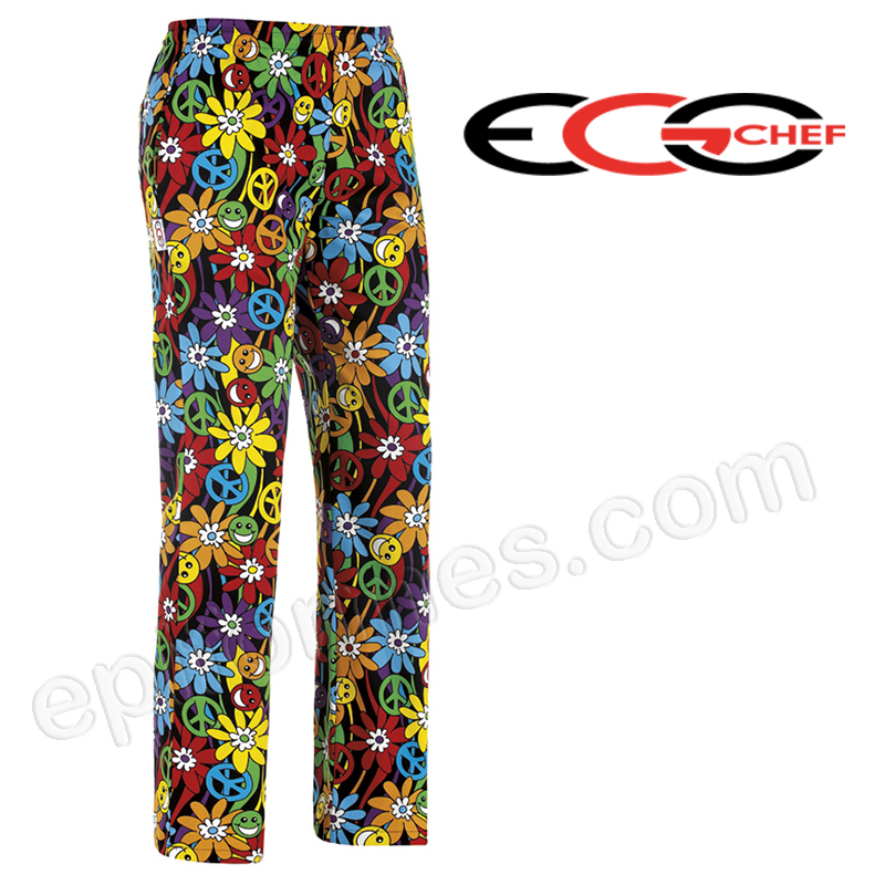 Pantalon chef cocina peace and love