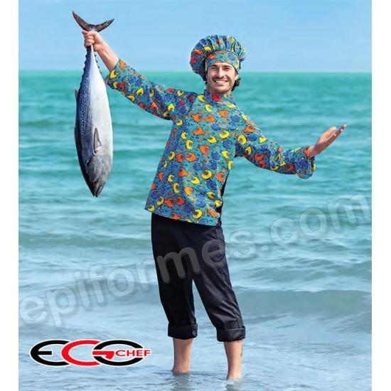 Chaqueta egochef Cocinero peces
