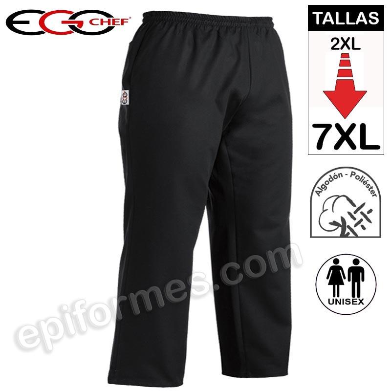 Pantalon talla especial hasta 7XL Negro