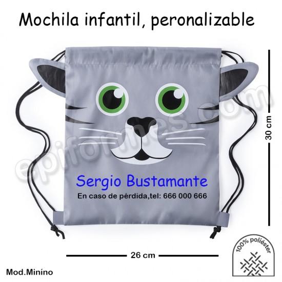 Mochila infantil personalizada Minino