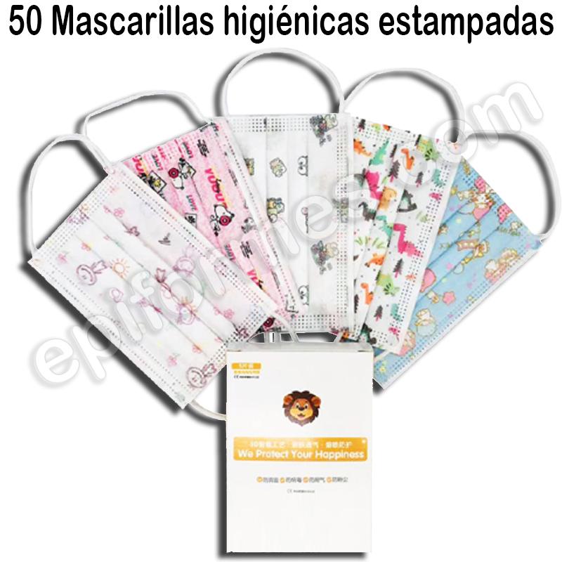 50 Mascarillas infantiles 3 CAPAS