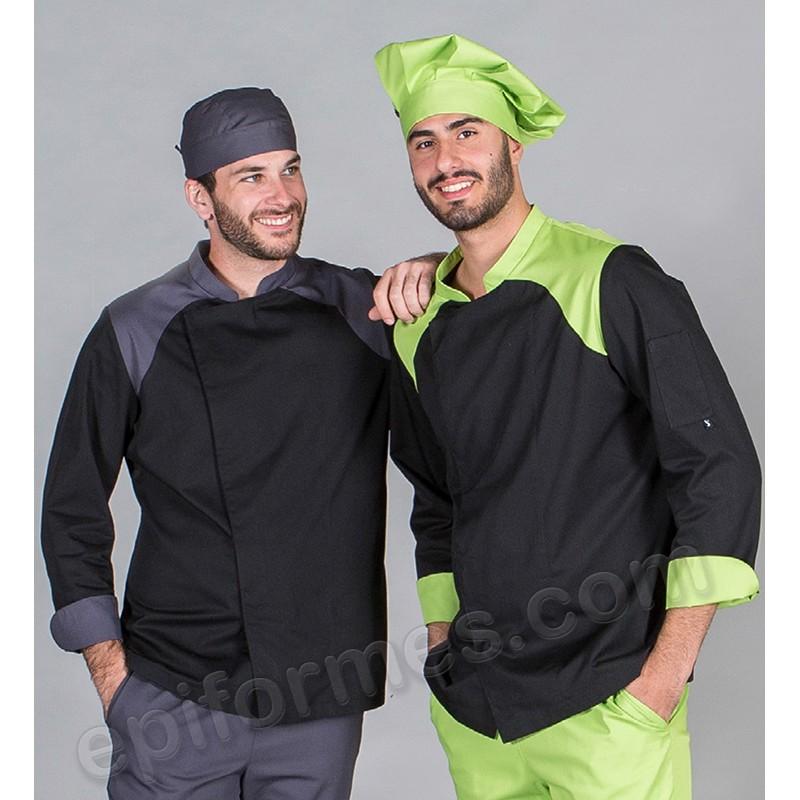 Chaqueta cocina unisex combinada