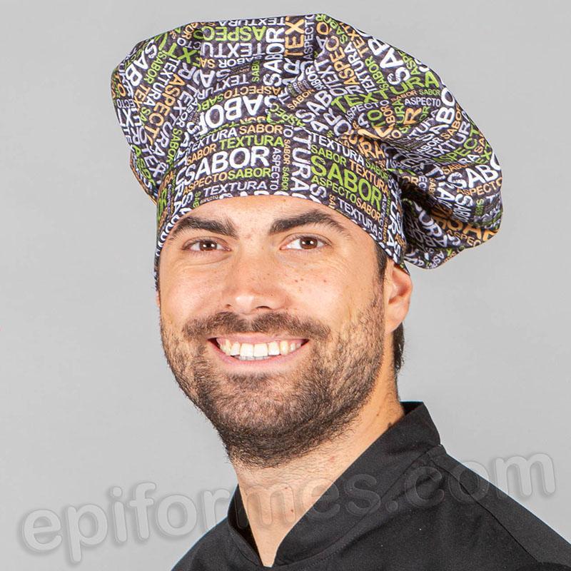 Gorro chef de cocina sabor