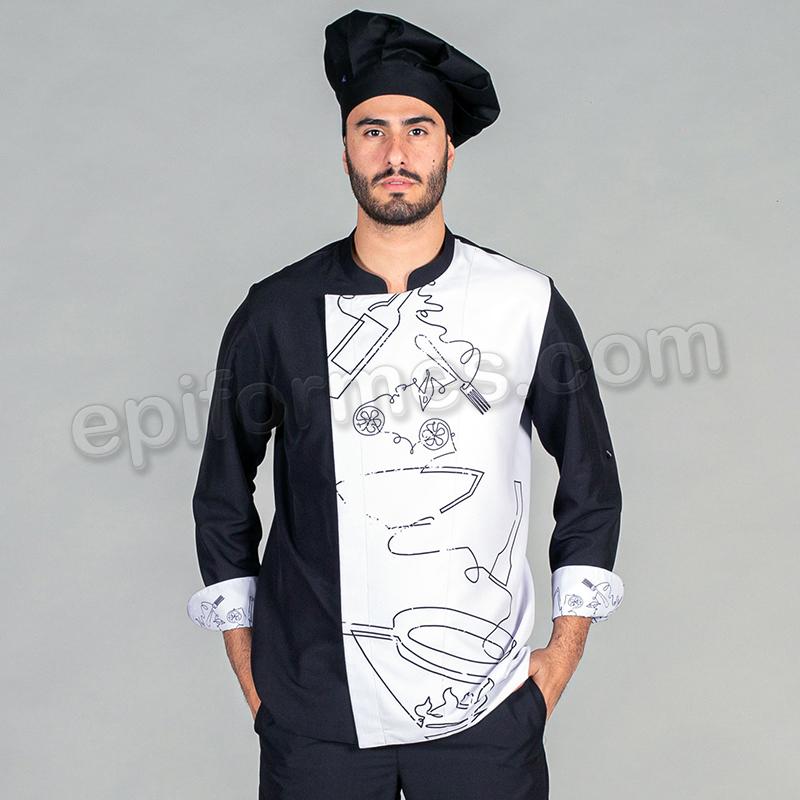 Chaqueta cocinero unisex torres
