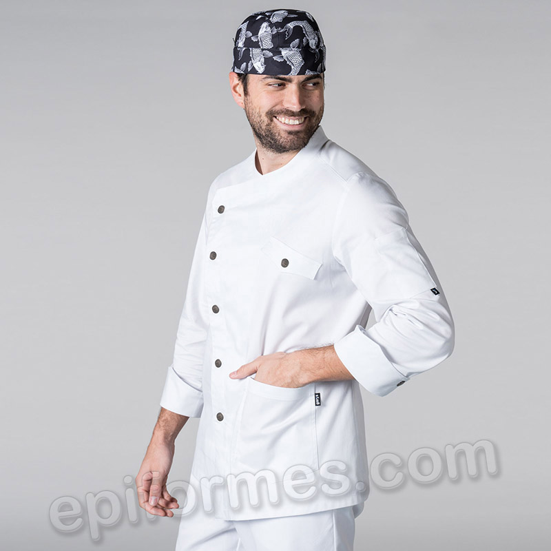 Chaqueta cocinero asimétrica