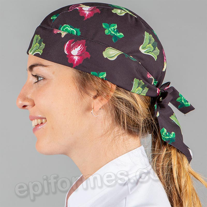 Bandana  cocinero estampada mezclum
