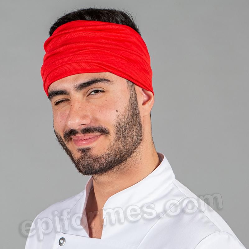 Bandana de cocina unisex, roja