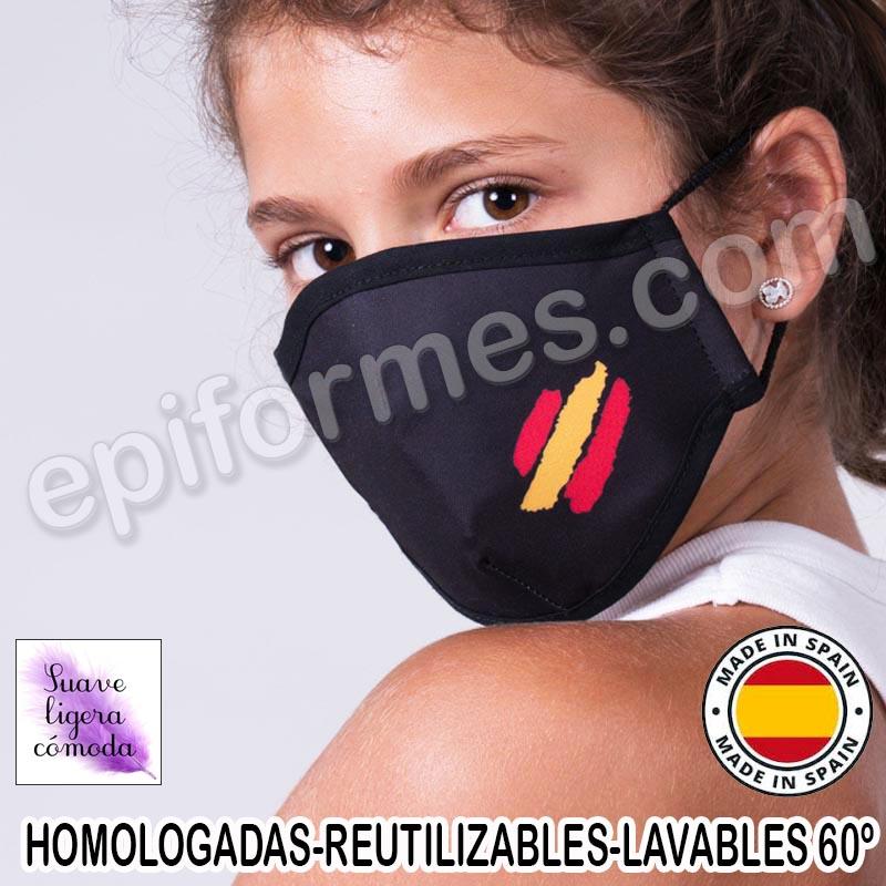 Mascarilla infantil HOMOLOGADA REUTILIZABLE Españ...