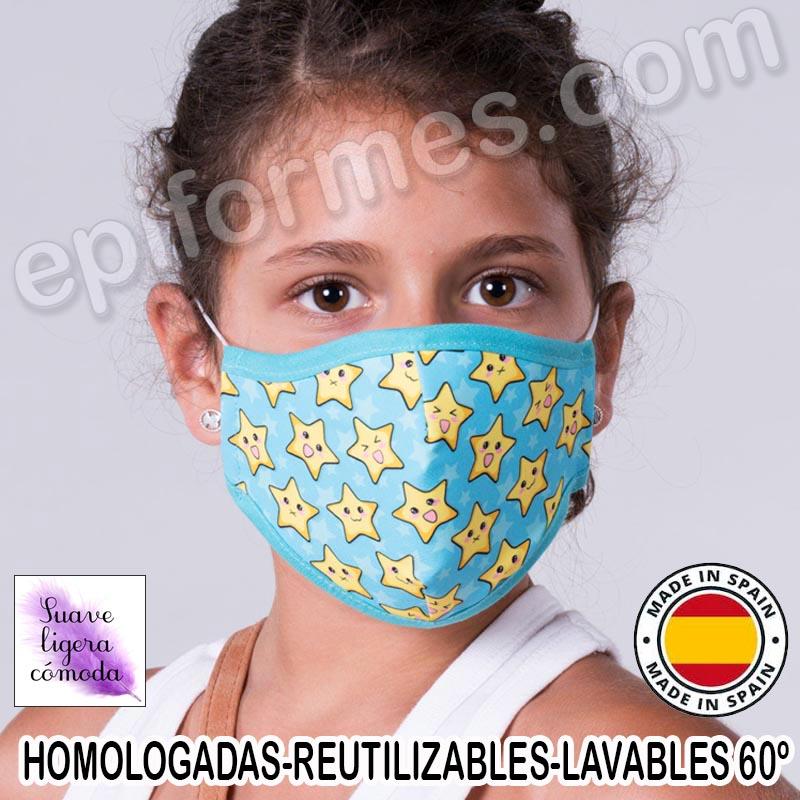 Mascarilla infantil HOMOLOGADA REUTILIZABLE Estrel...