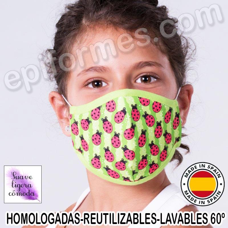 Mascarilla infantil HOMOLOGADA REUTILIZABLE mariqu...