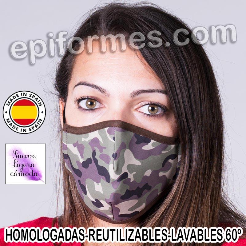 Mascarilla HOMOLOGADA camuflaje