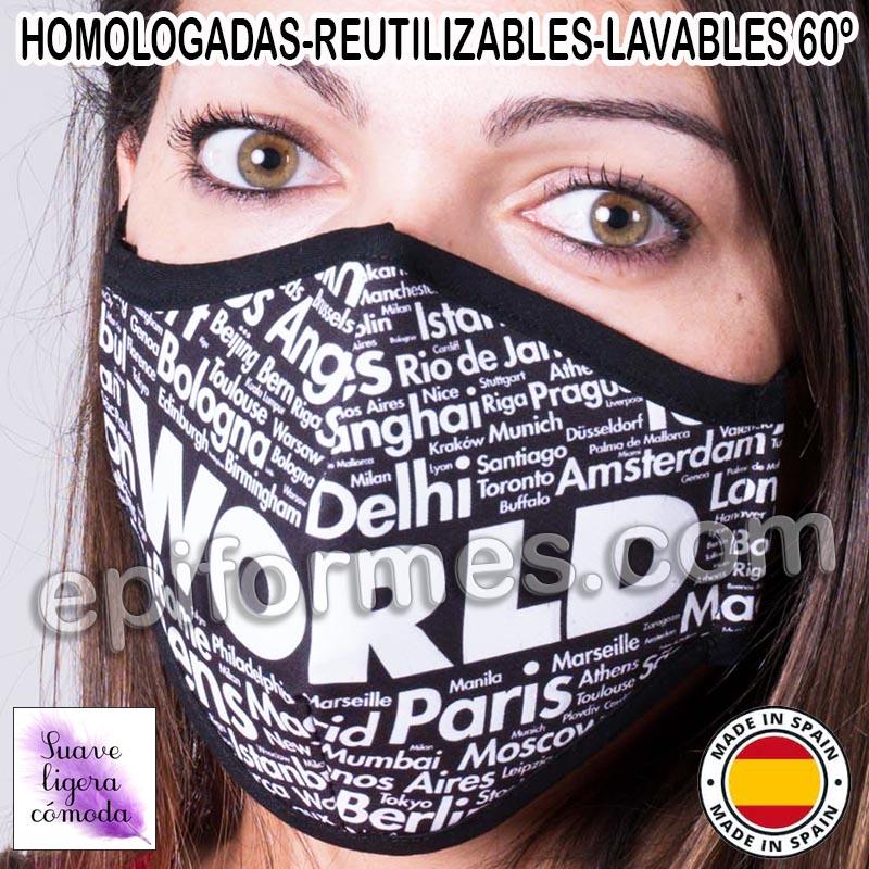 Mascarilla HOMOLOGADA ciudades
