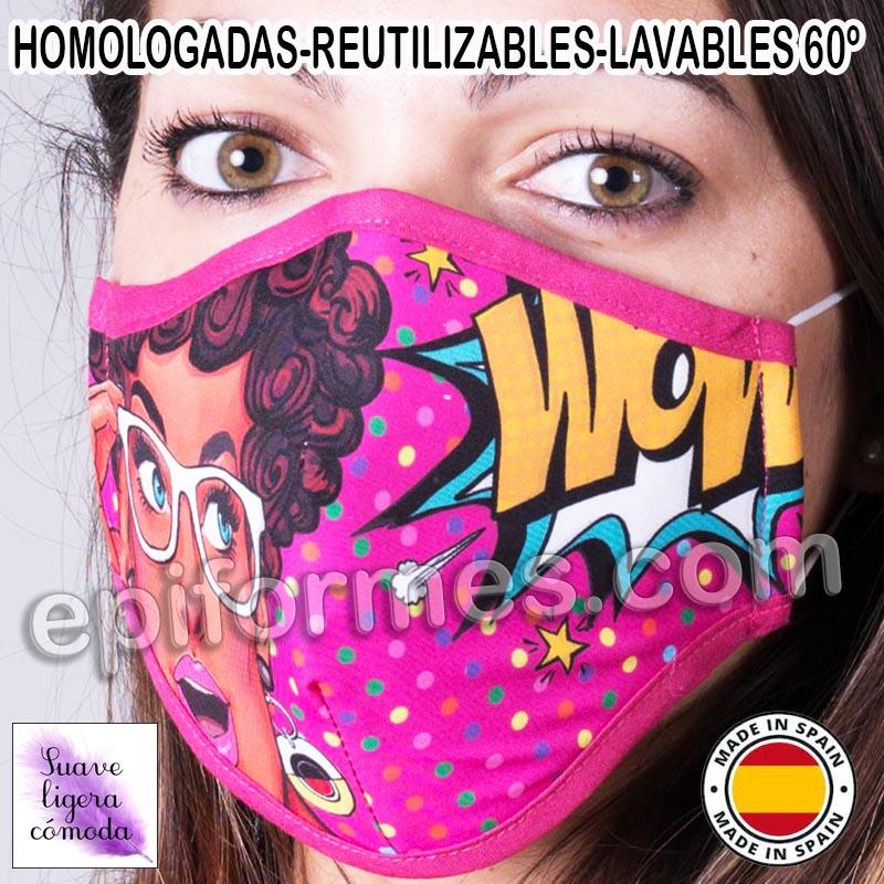 Mascarilla HOMOLOGADA comic
