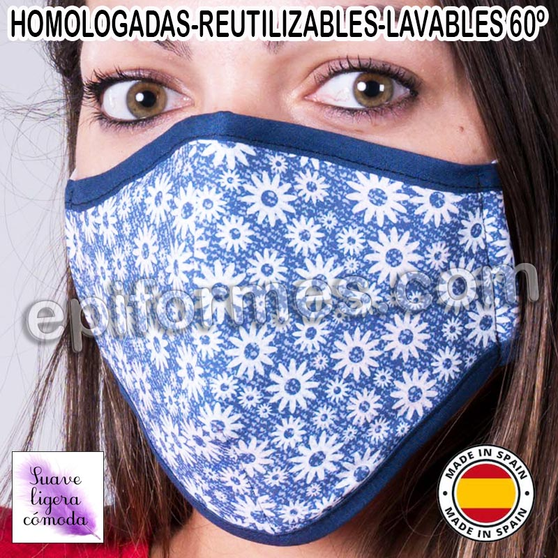 Mascarilla HOMOLOGADA  flores