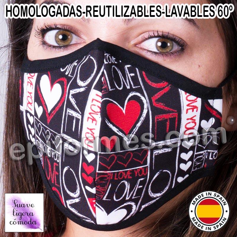 Mascarilla HOMOLOGADA  love