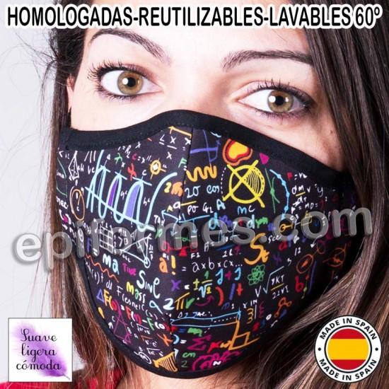 Mascarilla HOMOLOGADA  matematicas