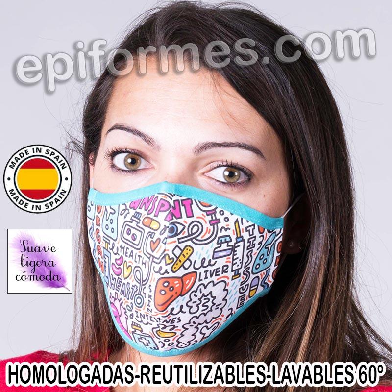 Mascarilla HOMOLOGADA  medicos