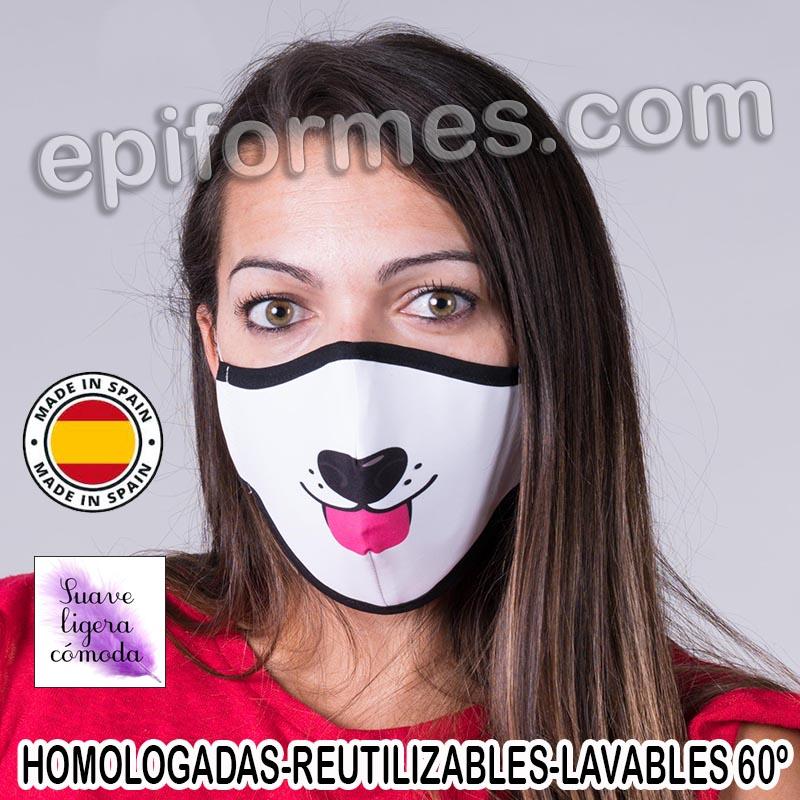 Mascarilla HOMOLOGADA estampada perro