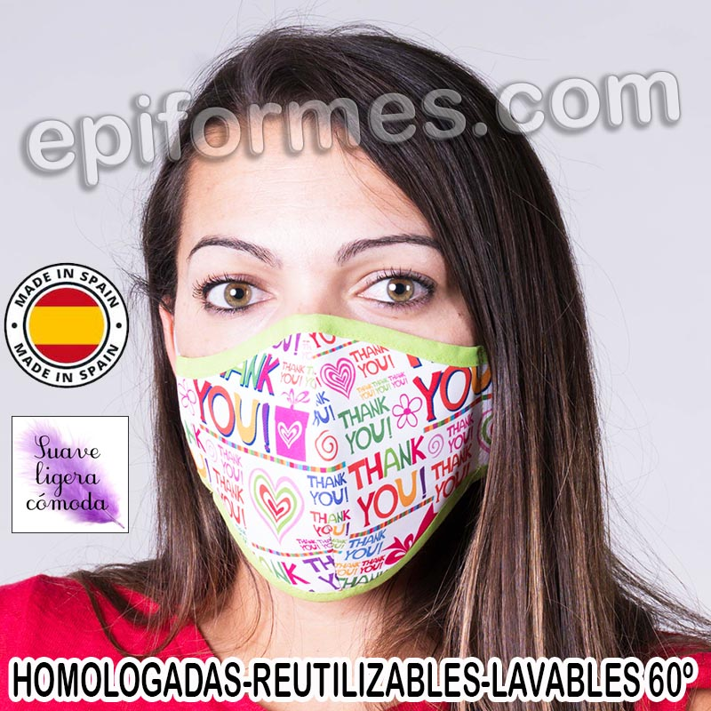Mascarilla HOMOLOGADA  thank you