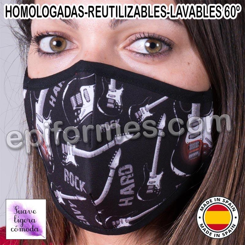 Mascarilla HOMOLOGADA  rock