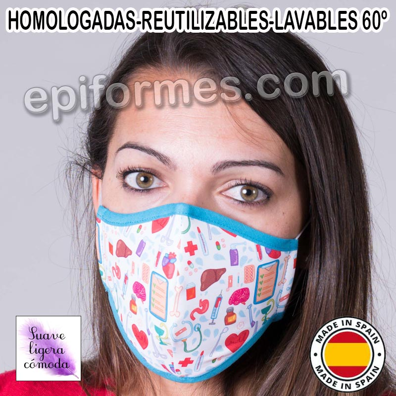 Mascarilla HOMOLOGADA  organos vitales