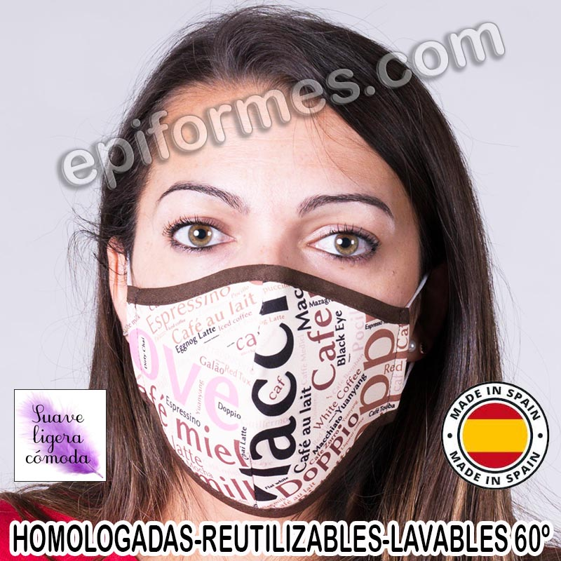 Mascarilla HOMOLOGADA  café
