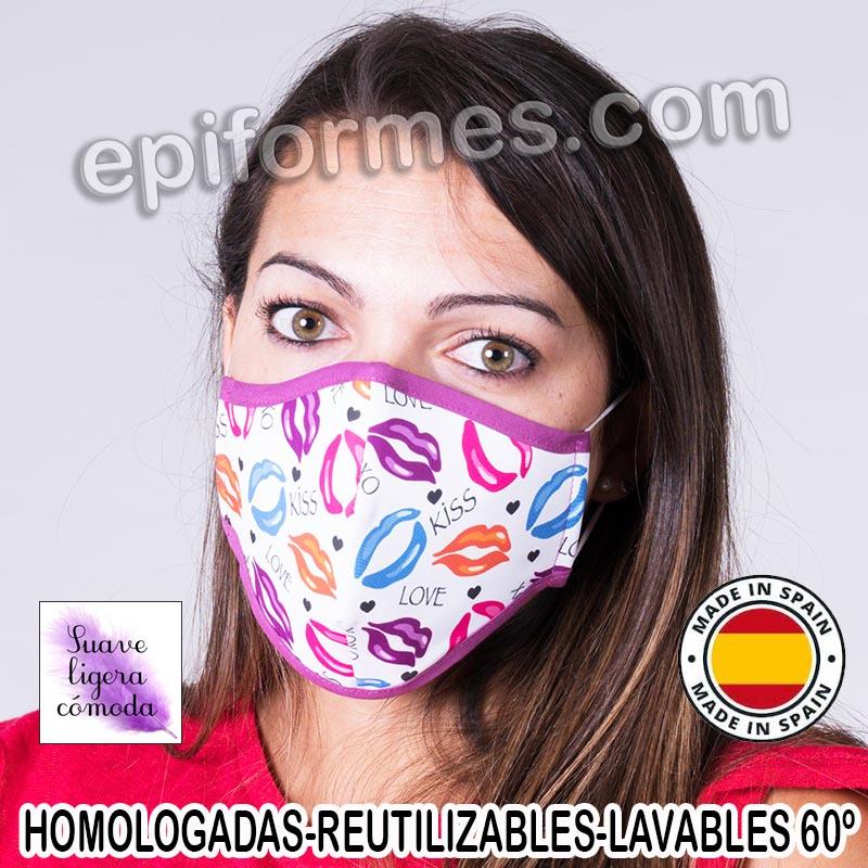Mascarilla HOMOLOGADA  kiss