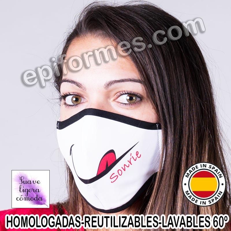 Mascarilla HOMOLOGADA  sonrie