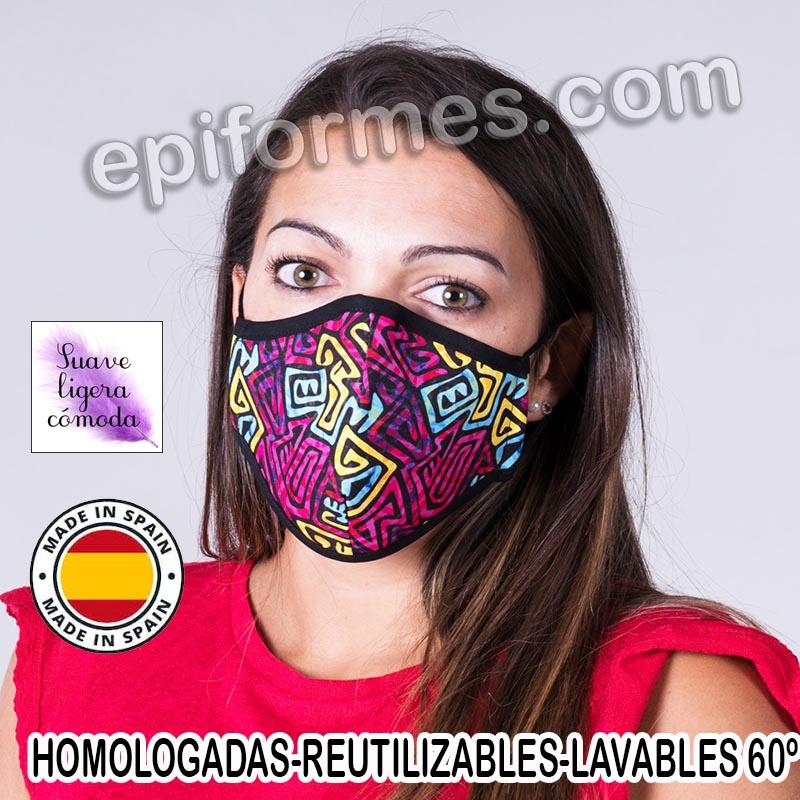 Mascarilla HOMOLOGADA  tribal
