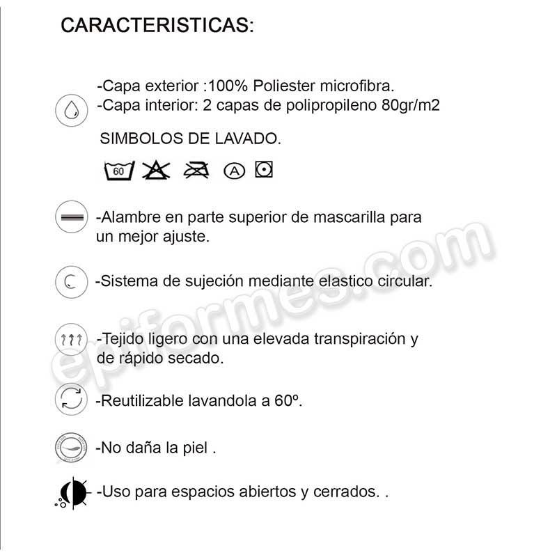 Mascarilla reutilizable HOMOLOGADA