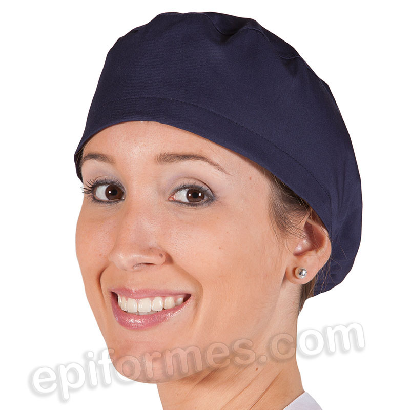 Gorro cirujano pelo largo MICROFIBRA, Azul marino