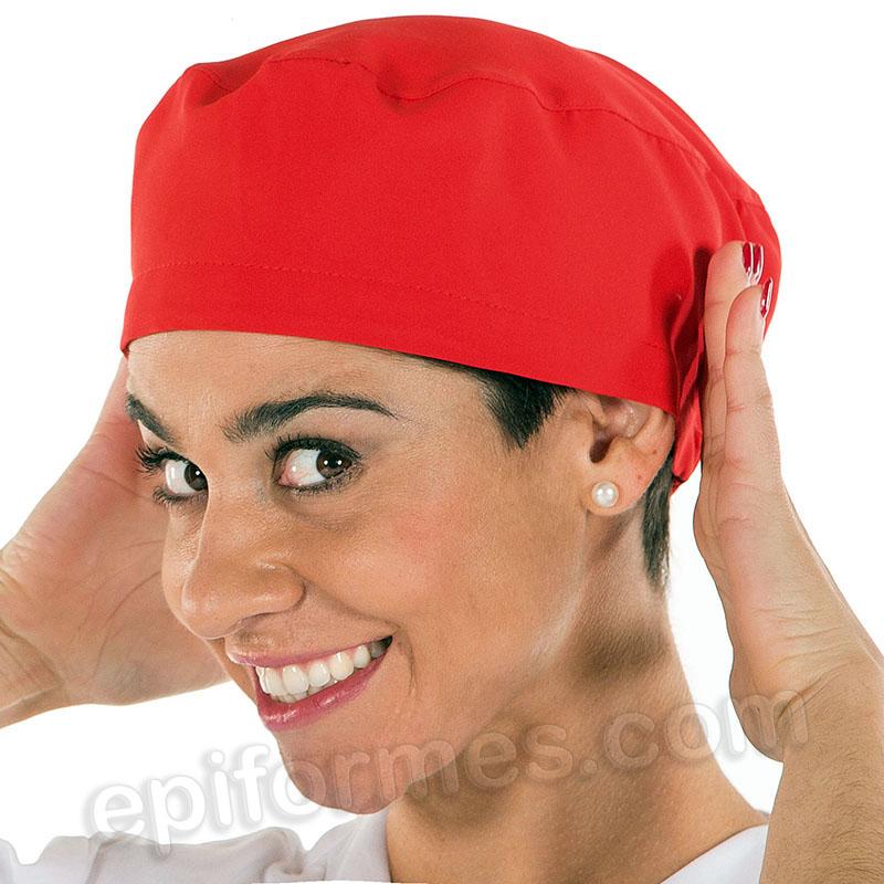Gorro cirujano pelo largo MICROFIBRA, rojo