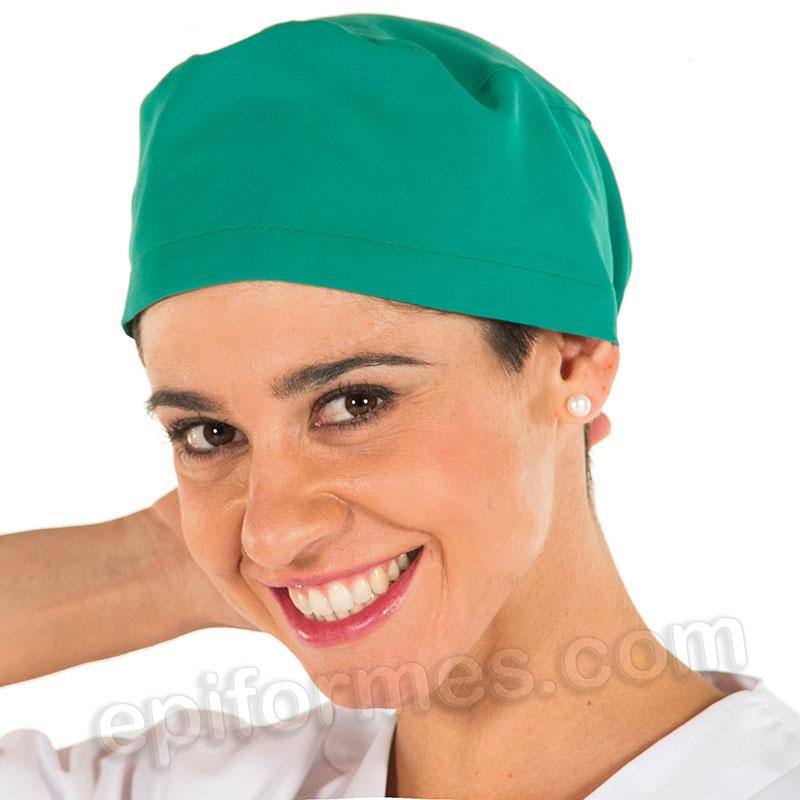 Gorro cirujano pelo largo MICROFIBRA, Verde