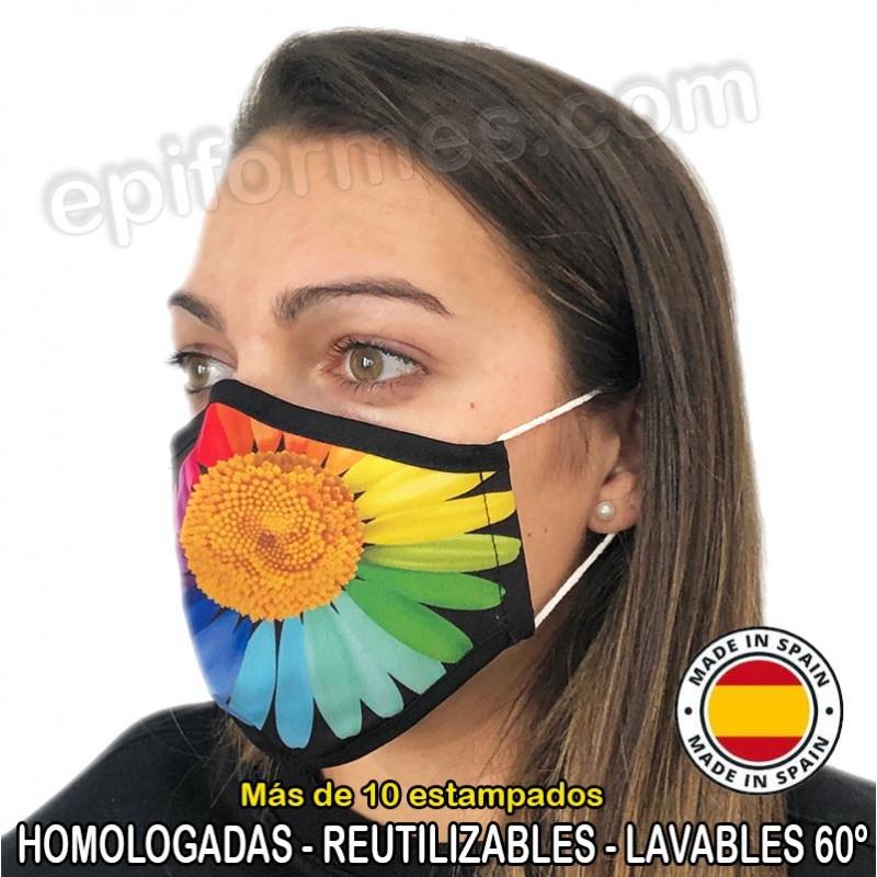 Mascarilla HOMOLOGADA reutilizable 15 estampados