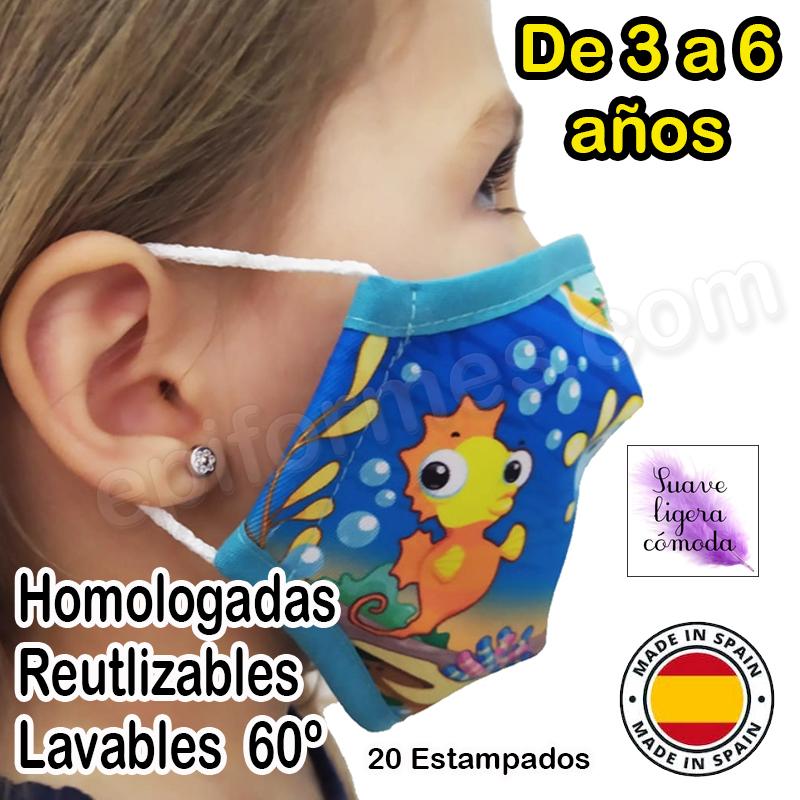 Mascarilla infantil HOMOLOGADA 3 a 6 años