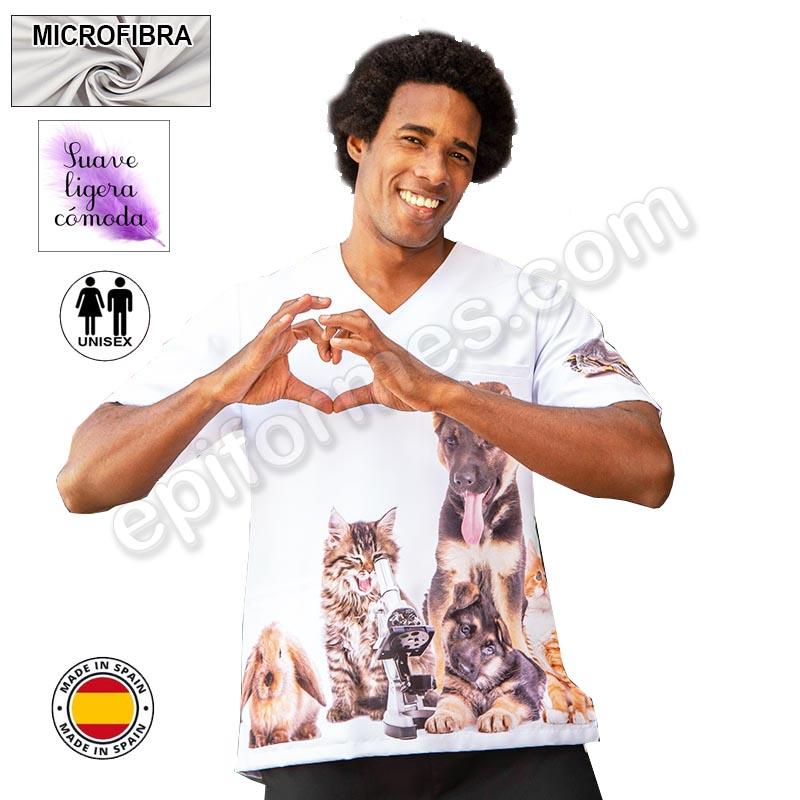 Casaca veterinario, microfibra,animales