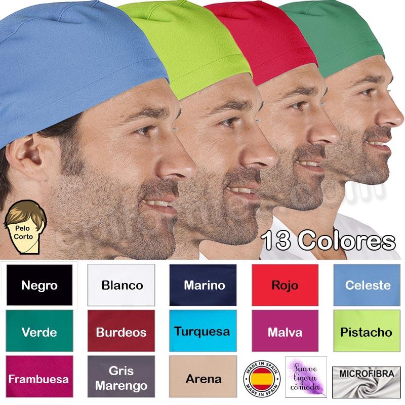 Gorro cirujano pelo corto MICROFIBRA 13 colores