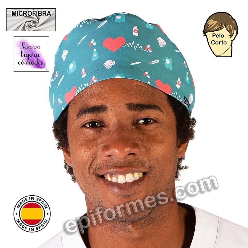 Gorro cirujano corazones